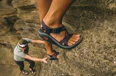 close up of chacos