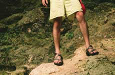 man in chacos
