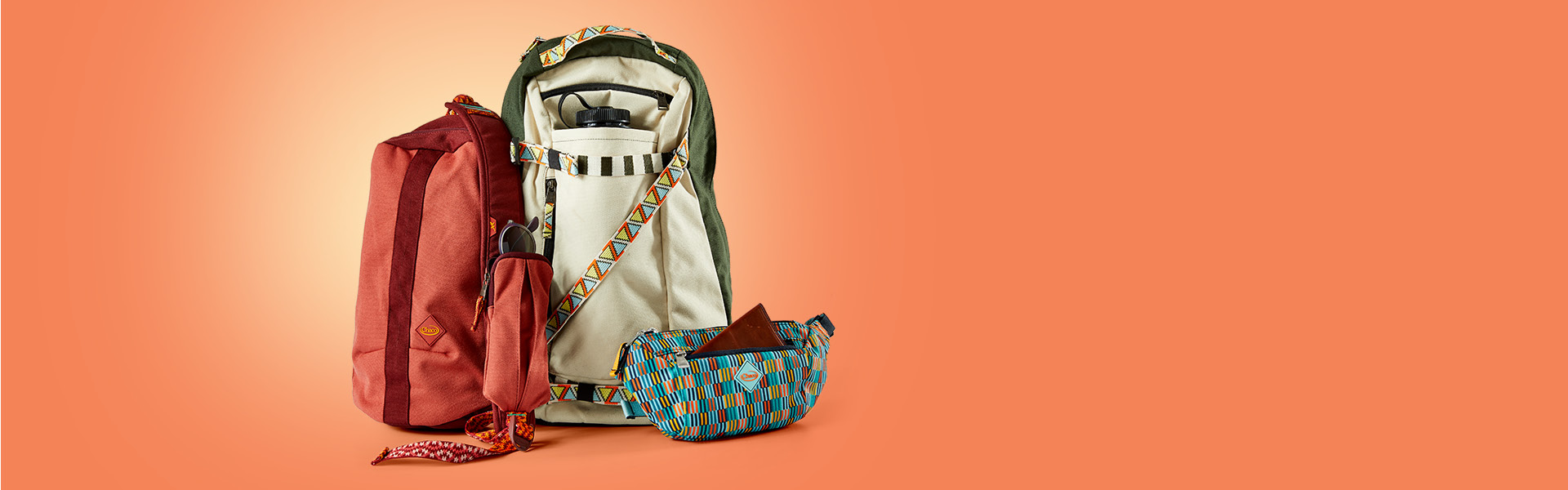 Radlands Packs and Chaco Sandals