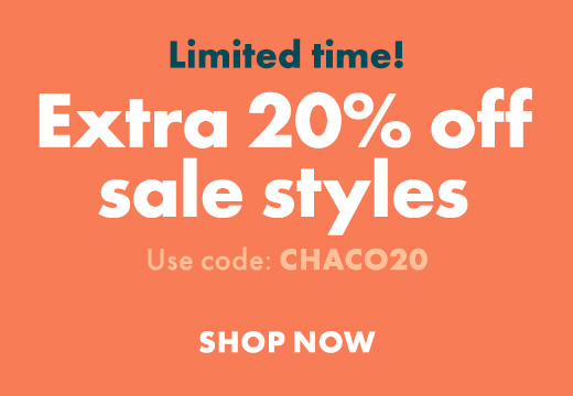 Limited Time Extra 20% off sales styles. Use code Chaco20