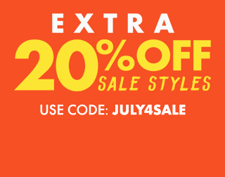 Extra 20% off Sale Styles. Use code: JULY4TH.
