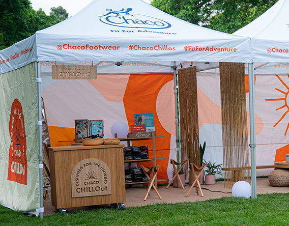 The chaco chillout booth.