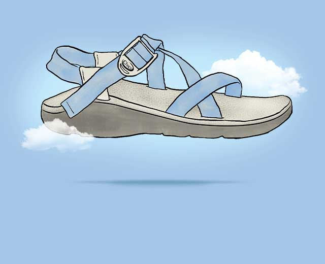 sandal in the clouds