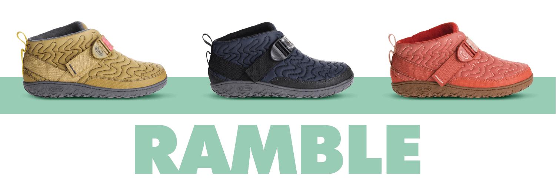 Seaweed, Black and Brick colored Ramble boots