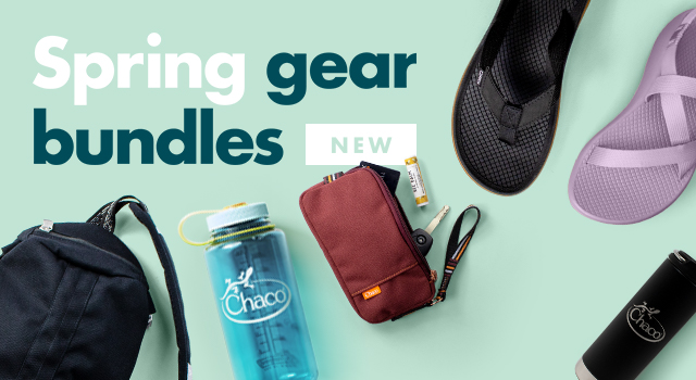 Spring bundles of Chaco gear.