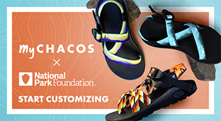 New at MyChacos: National Park Foundation Collection - Start Customizing.