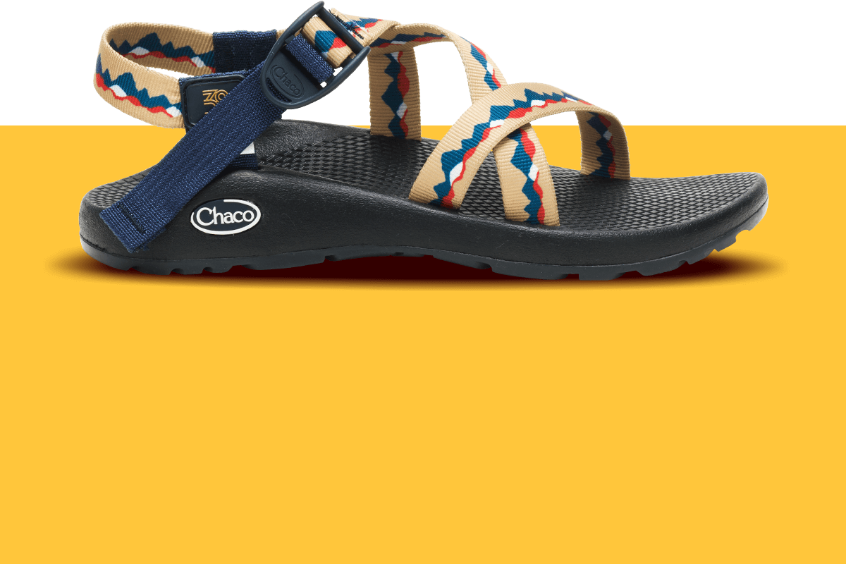 Side profile of a z/sandal, New Belgium Brewing collaborative sandal.