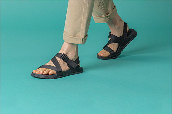 Showing off the new Lowdown sandals.