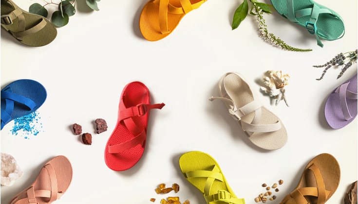 Various colors of Z Sandals