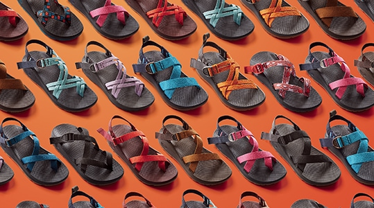 Assortment of Chaco Sandals