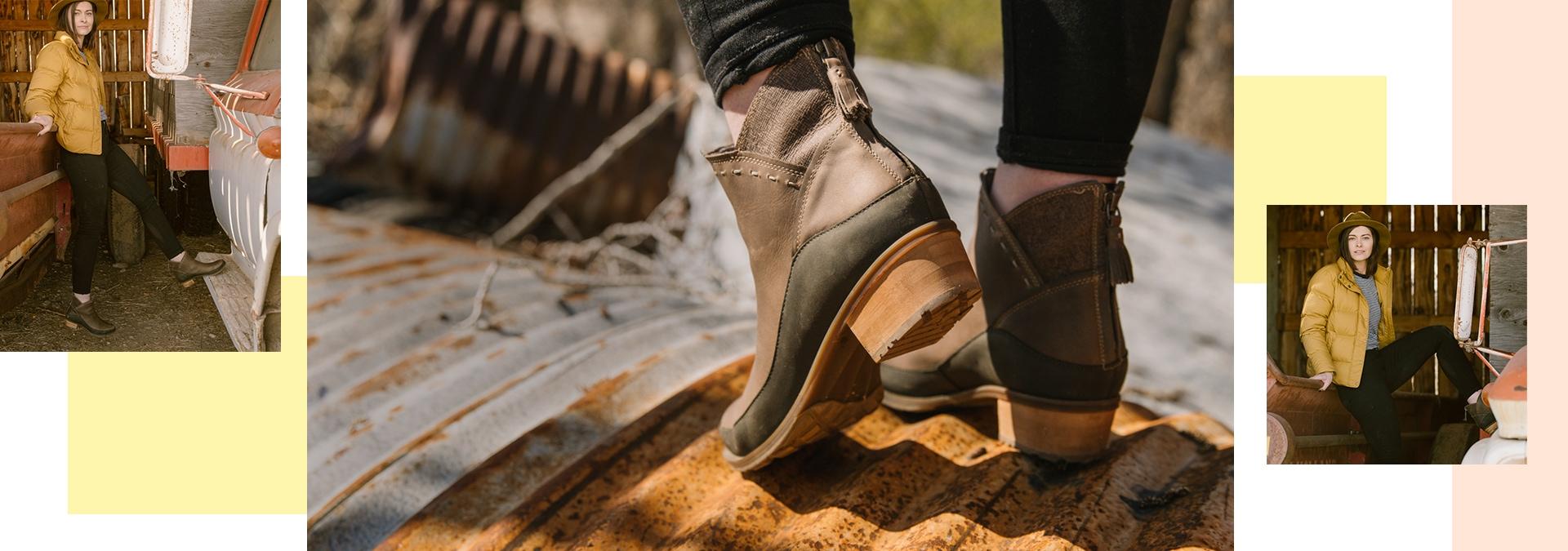 Closeup of Chaco Cataluna Mid Boots