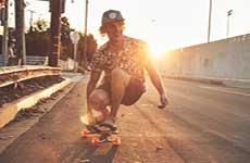 skateboarding in chacos