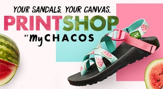 Your Sandals.  Your Canvas.  Printshop by My Chacos.