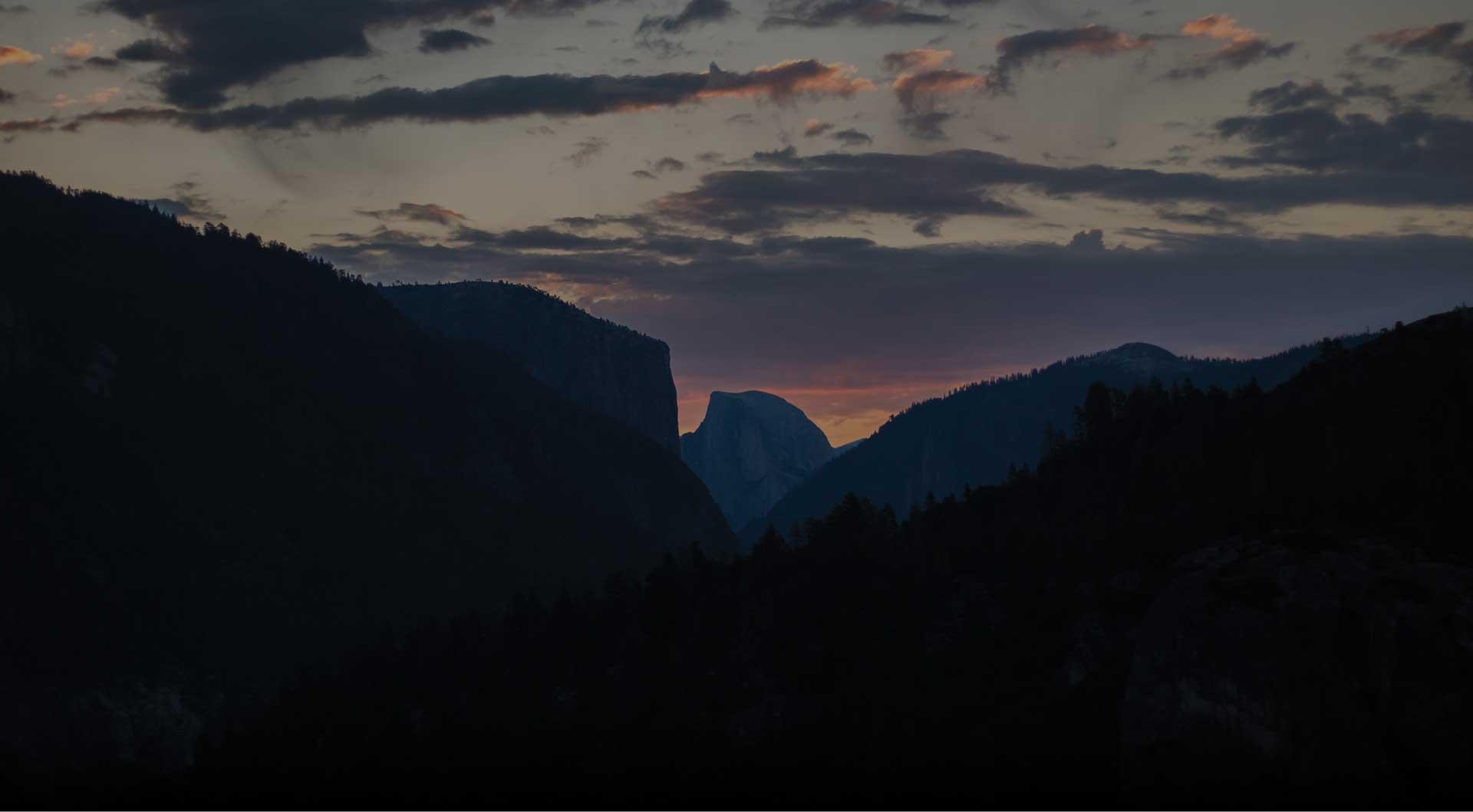 public land at sunset