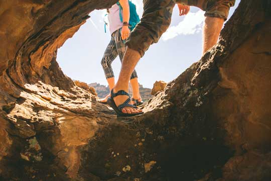 Hiking on Rocks with Chacos